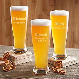 Groomsmen 20 oz. Beer Pilsner Glass