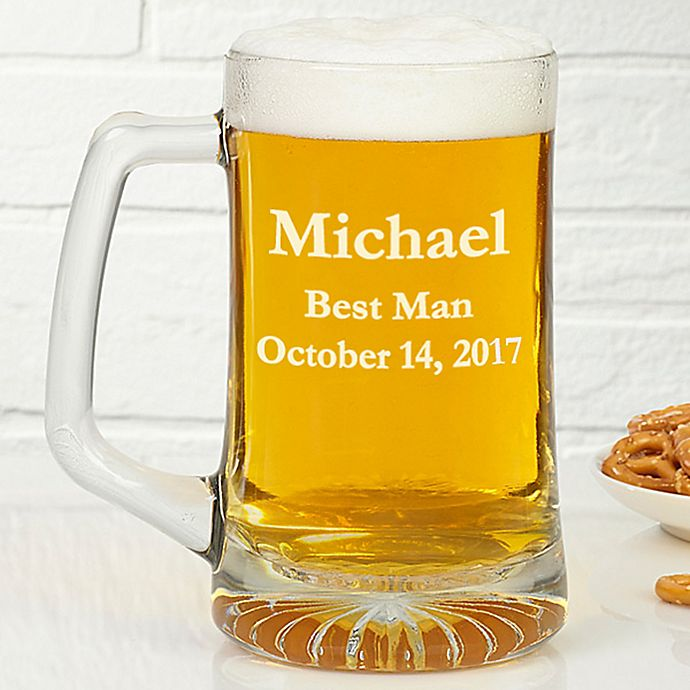 Alternate image 1 for Groomsmen 25 oz. Beer Mug