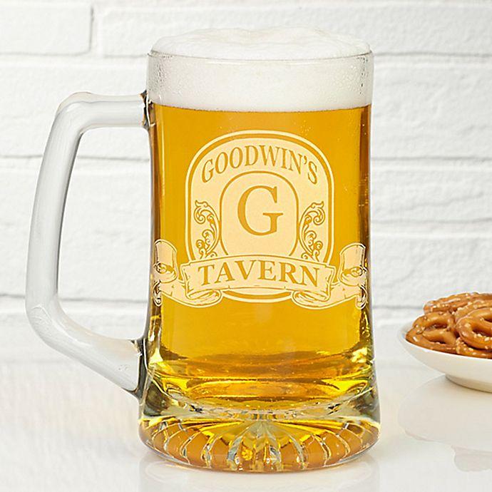Alternate image 1 for Vintage Bar Sign 25 oz. Deep Etch Beer Mug
