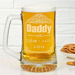 Date Established 25 oz. Deep Etch Beer Mug