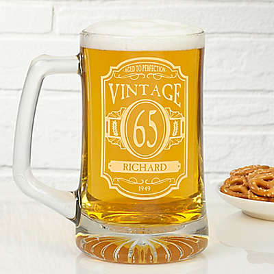 Vintage 25 oz. Deep Etched Beer Mug