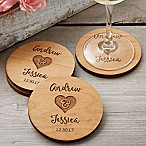 Rustic Wedding Party Favor Coaster