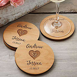 Rustic Wedding Party Favor Coaster