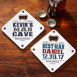 Write Your Own Beer Bottle Opener Coaster