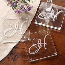 Initial Impressions Glass Coasters (Set of 4)