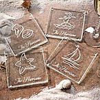 Seashore Glass Coasters (Set of 4)