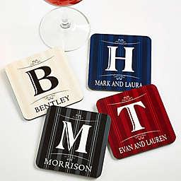 Elegant Monogram Coasters