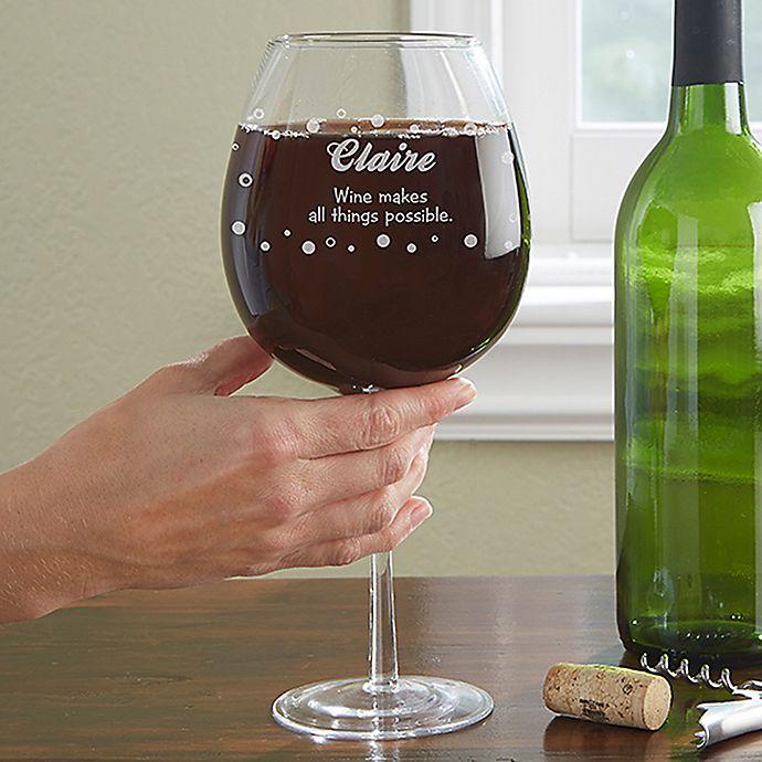 Alternate image 1 for Big Vino Whole Bottle Wine Glass