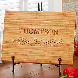 Classic Kitchen Personalized Bamboo Cutting Board