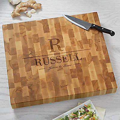 Decorative Name & Initial Butcher Block Cutting Board