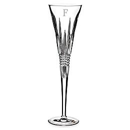 Waterford® Lismore Diamond Block Letter Monogram Toasting Flutes (Set of 2)