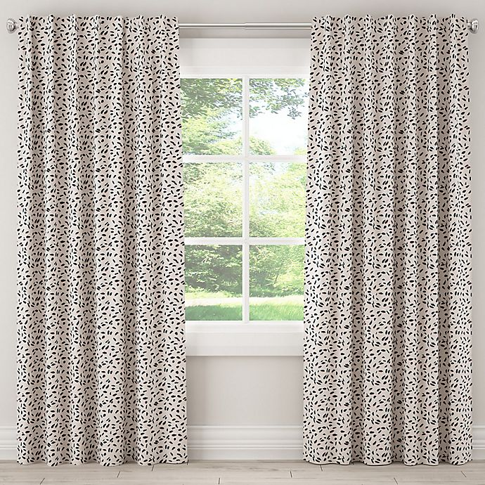 Alternate image 1 for Skyline Neo Leo 84-Inch Rod Pocket/Back Tab Window Curtain Panel in Cream