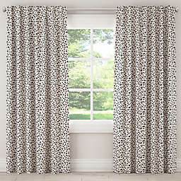 Skyline Neo Leo Rod Pocket/Back Tab Window Curtain Panel in Cream