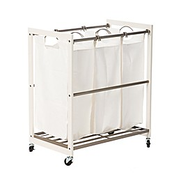 Trinity EcoStorage™ 3-Bag Laundry Cart in White