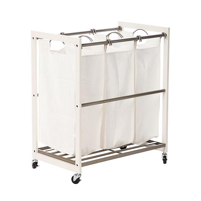 Alternate image 1 for Trinity EcoStorage™ 3-Bag Laundry Cart in White
