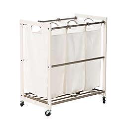 Trinity EcoStorage™ 3-Bag Laundry Cart in White