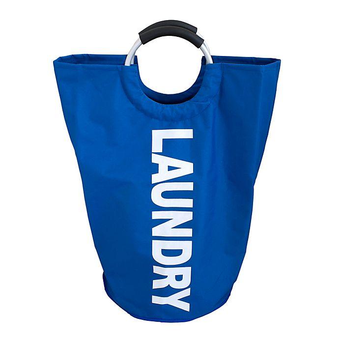 Alternate image 1 for Splash Handy Handles Laundry Bag in Blue