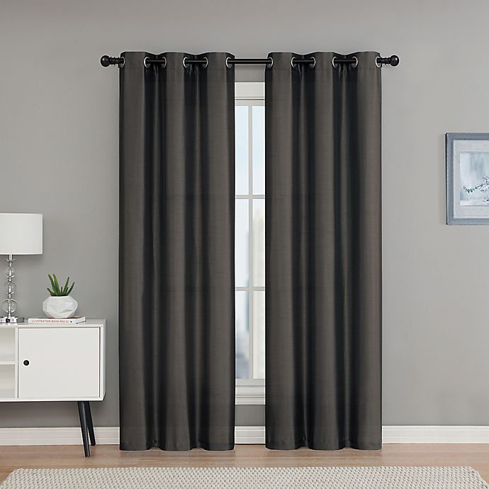 Alternate image 1 for VCNY Home Monroe 63-Inch Grommet Top Room Darkening Window Curtain Panel Pair in Chocolate