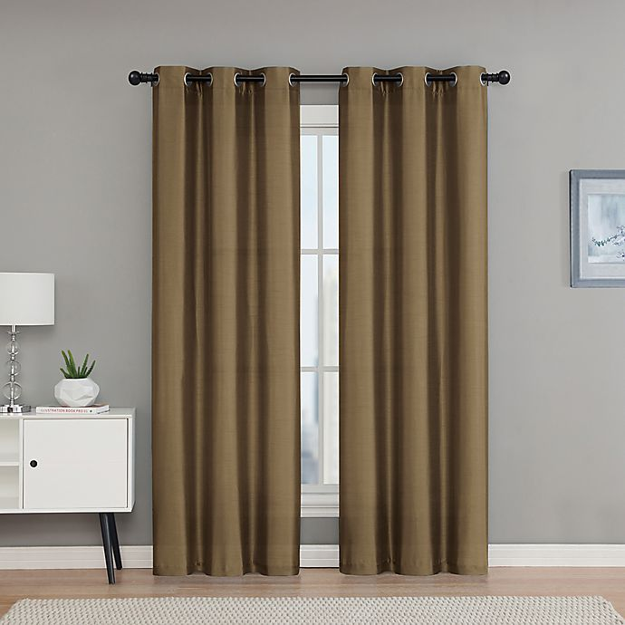 Alternate image 1 for VCNY Home Monroe 63-Inch Grommet Top Room Darkening Window Curtain Panel Pair in Taupe