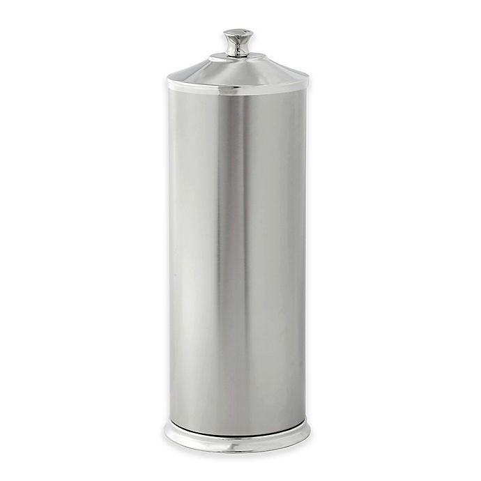 Alternate image 1 for Alumiluxe Rust-Proof Toilet Paper Reserve Holder with Lid