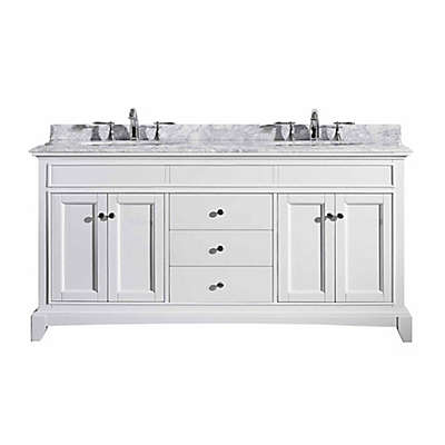 Eviva Elite Stamford® 72-Inch Double Bathroom Vanity in White/White