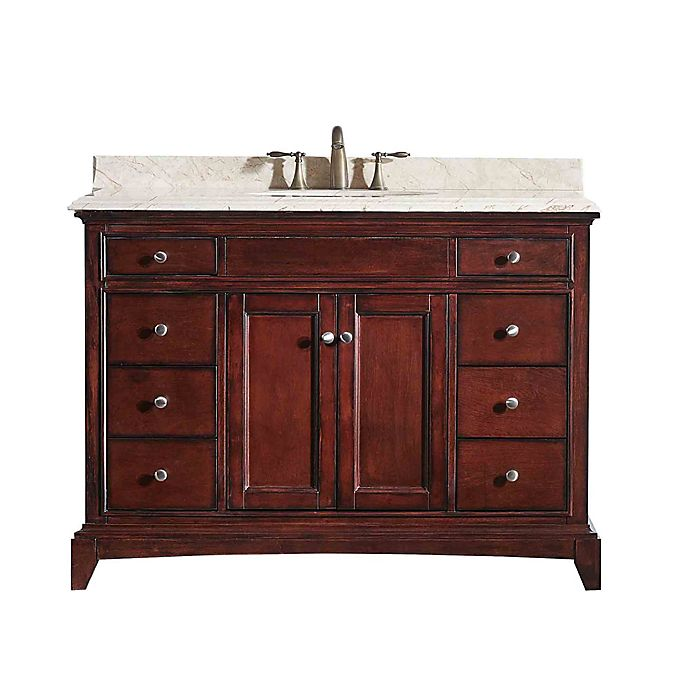 Alternate image 1 for Eviva Elite Stamford® 48-Inch Single Bathroom Vanity in Brown/Cream