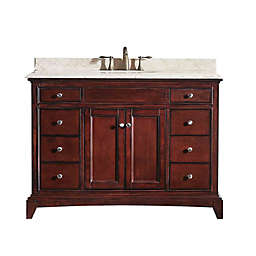 Eviva Elite Stamford® 48-Inch Single Bathroom Vanity in Brown/Cream