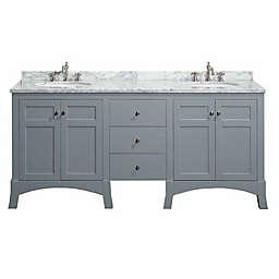 Eviva New York® 72-Inch Double Vanity in Grey/White