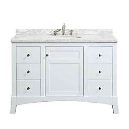 Eviva New York® 48-Inch Single Vanity in White/White