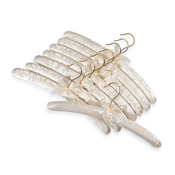 Satin Padded Hangers Set Of 8 Bone Bed Bath Amp Beyond