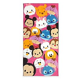 Disney® Tsum Tsum Beach Towel in Pink