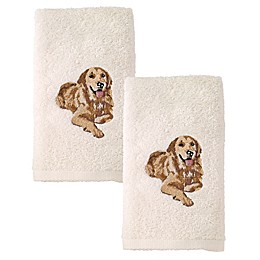 Avanti Golden Retriever Hand Towels in Ivory (Set of 2)