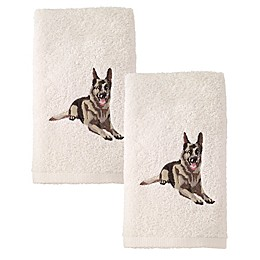 Avanti German Shepherd Hand Towels  in Ivory (Set of 2)