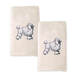 Avanti Poodle Hand Towels in Ivory (Set of 2)