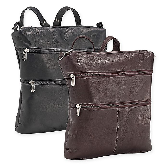 Alternate image 1 for Piel® Leather 12-Inch Convertible Backpack