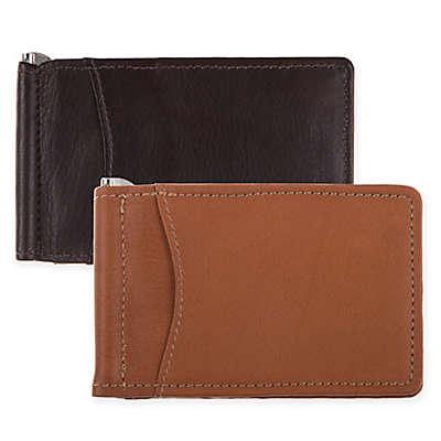 Piel® Leather Bi-Fold Money Clip with ID Window
