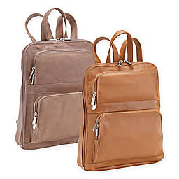 Piel® Leather 12-Inch Slim Tablet Backpack with Front Pockets