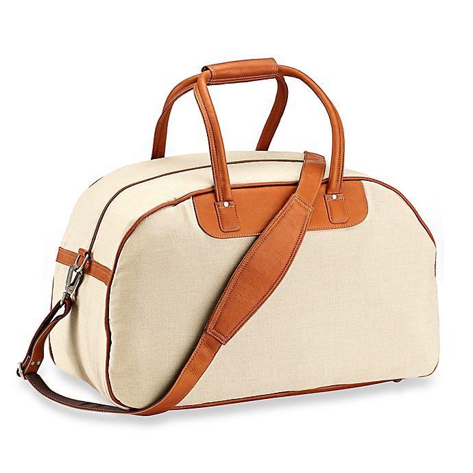Alternate image 1 for Piel® Leather 20-Inch Satchel Travel Bag in Saddle
