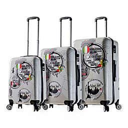 Mia Viaggi ITALY World Icon 3-Piece 8-Wheel Hardside Spinner Set
