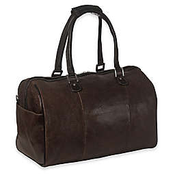 Piel®  Leather Vintage Carry On Satchel in Brown