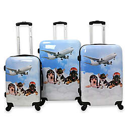 Chariot Dog Pilots 3-Piece Luggage Set in Blue