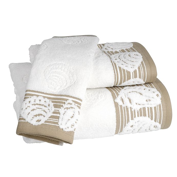 Alternate image 1 for Shell Harbor Bath Towel in Beige