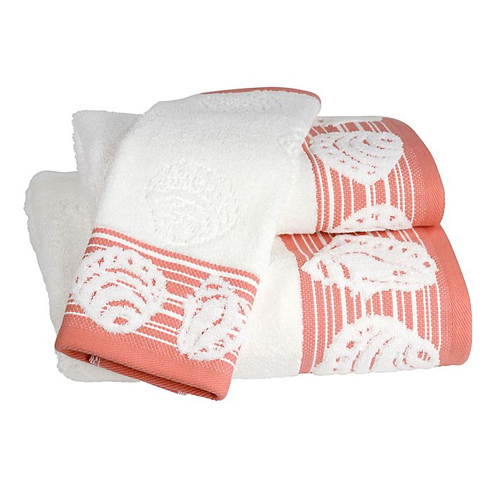 Alternate image 1 for Shell Harbor Bath Towel in Coral