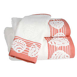 Shell Harbor Bath Towel in Coral