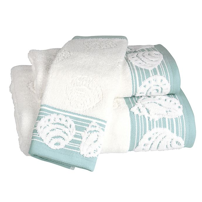 Alternate image 1 for Shell Harbor Wash Towel in Blue