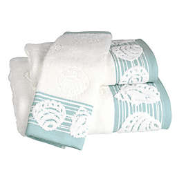 Shell Harbor Hand Towel in Blue