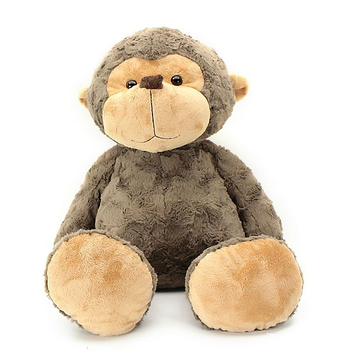 Alternate image 1 for Jumbo Biscuit Friends Monkey Plush in Brown