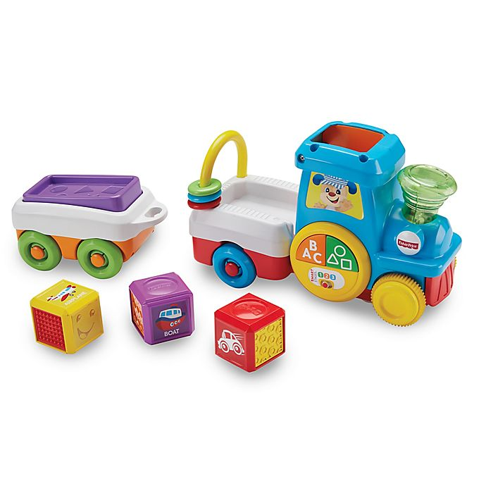 Alternate image 1 for Fisher Price® Laugh & Learn® First Words Crawl-Along Train
