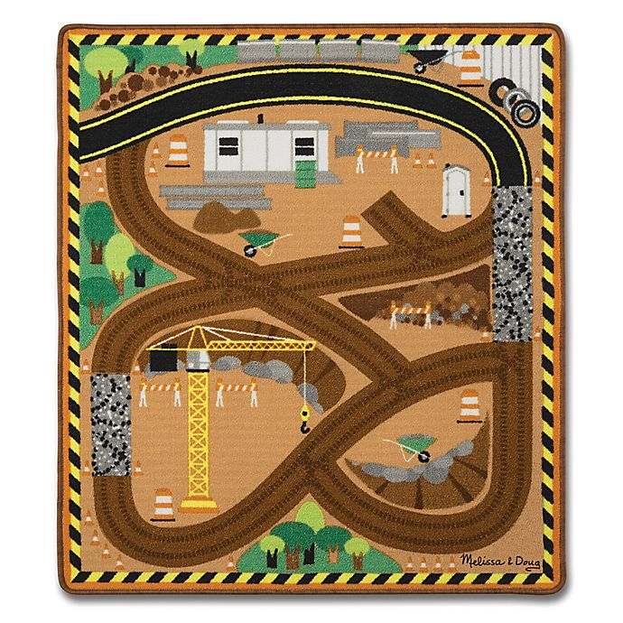 Alternate image 1 for Melissa & Doug® Round the Site Construction Play Rug