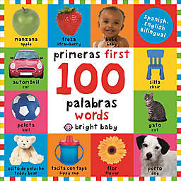 """First 100 Words""  English/Spanish Board Book by Roger Priddy"